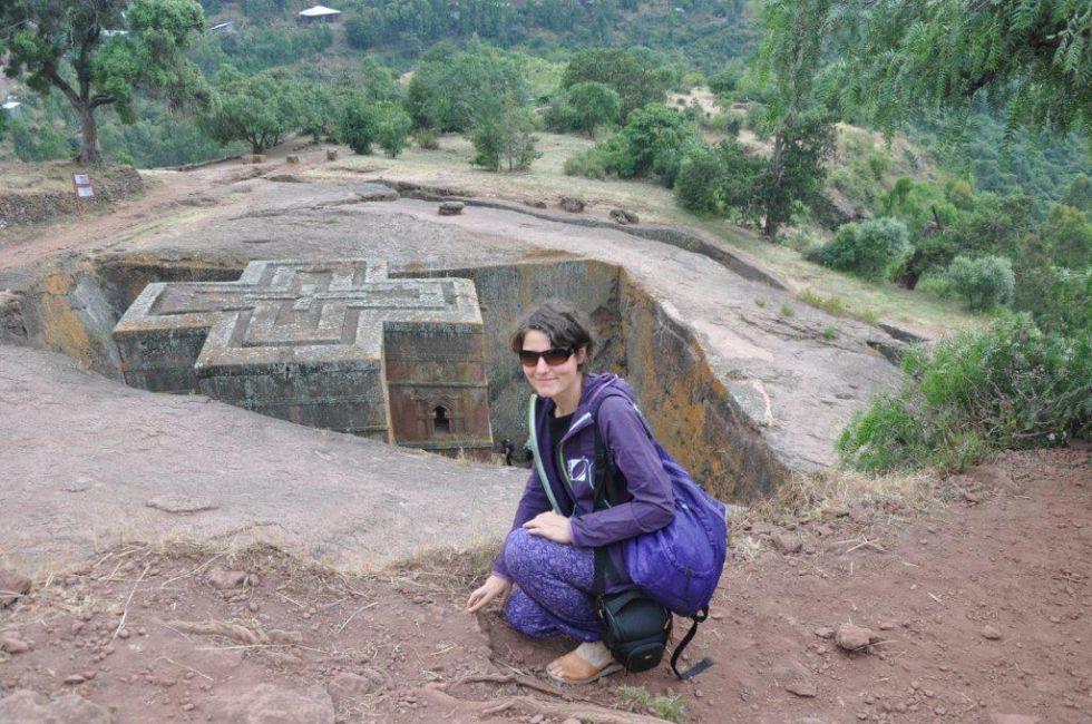 Zwiedzanie Etiopii, kościół św. Jerzego w Lalibeli.