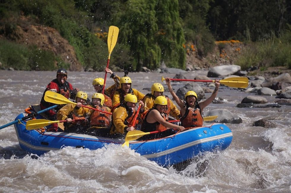rafting podczas wyprawy chile - wyspa wielkanocna - polinezja francuska
