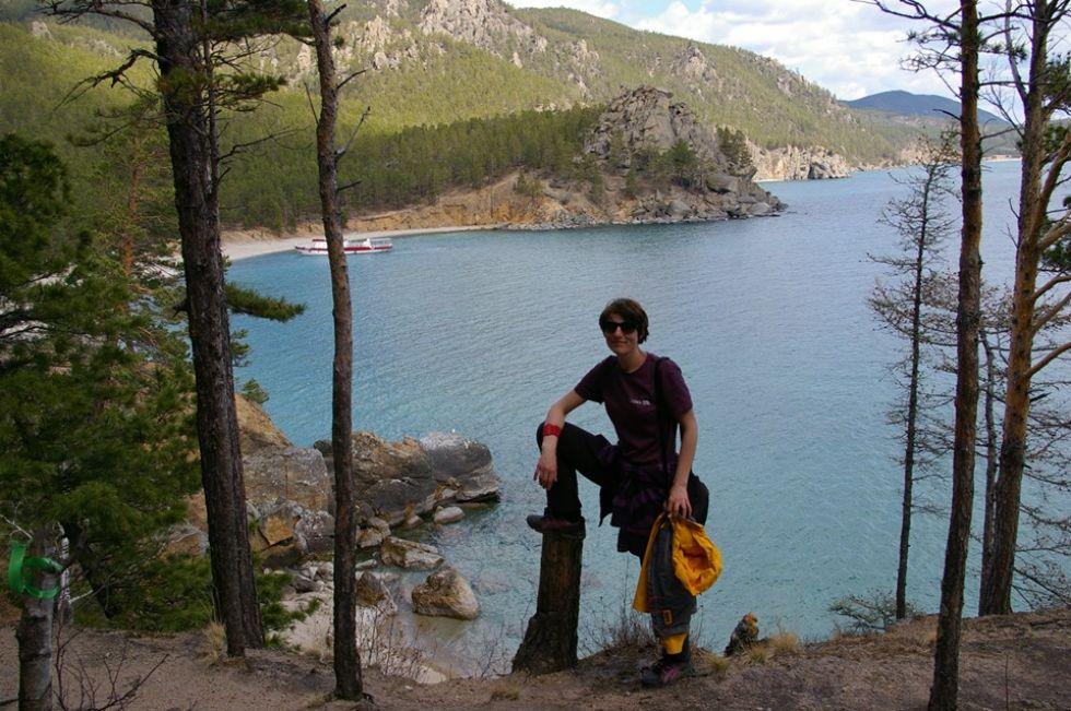 nasza pracownica podczas wyprawy rosja bajkal i syberyjska okolica