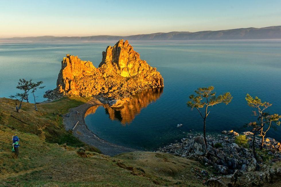 widok na jezioro bajkal