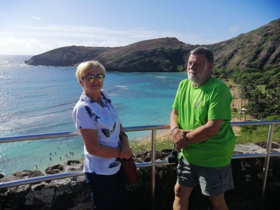 widok na jednej z hawajskich wysp - oahu
