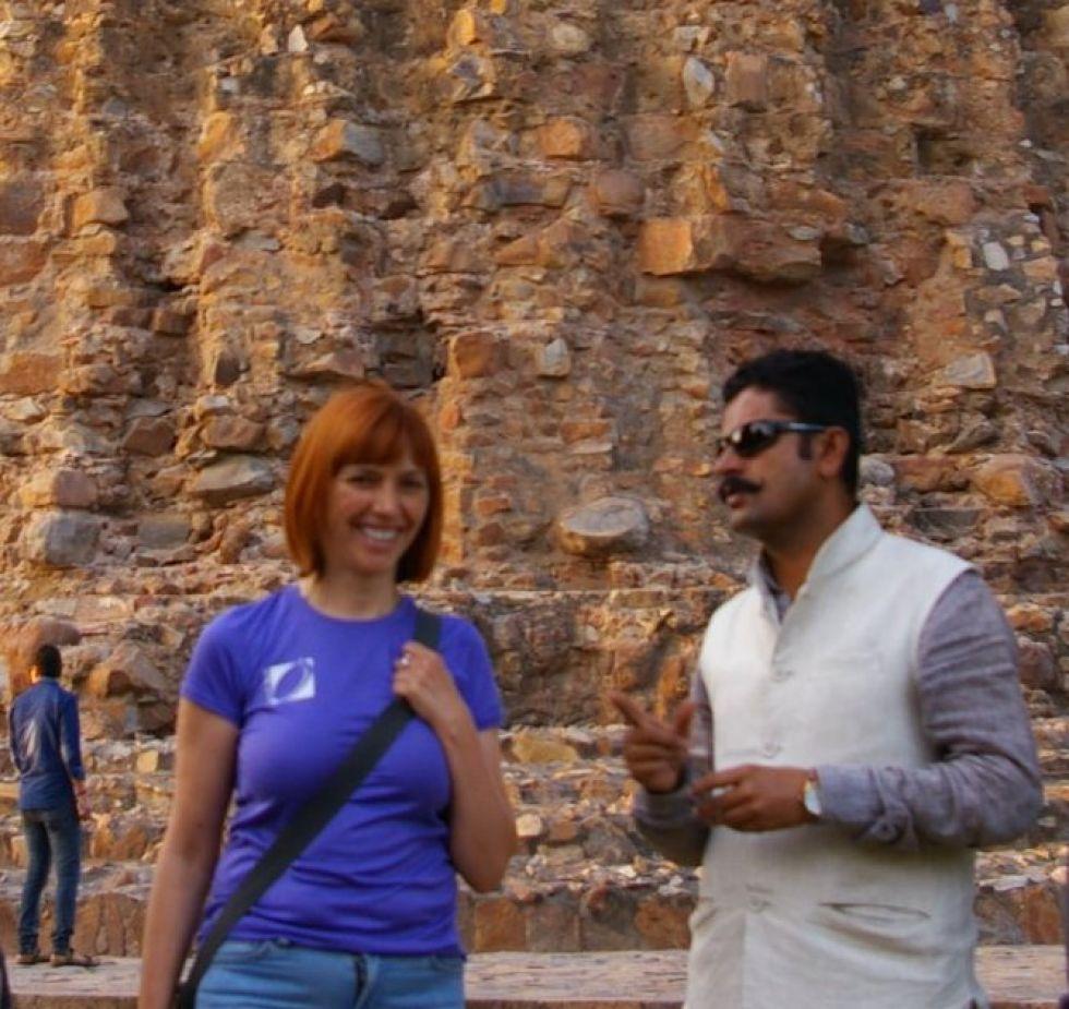 nasz kontrahent i nasza pilotka podczas zwiedzania indii