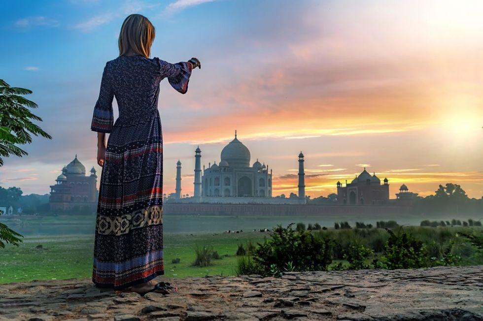 widok podczas objazdu indii