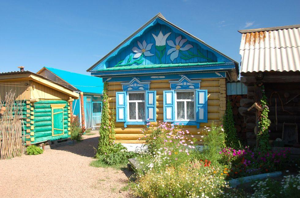 syberyjskie tradycyjne domki