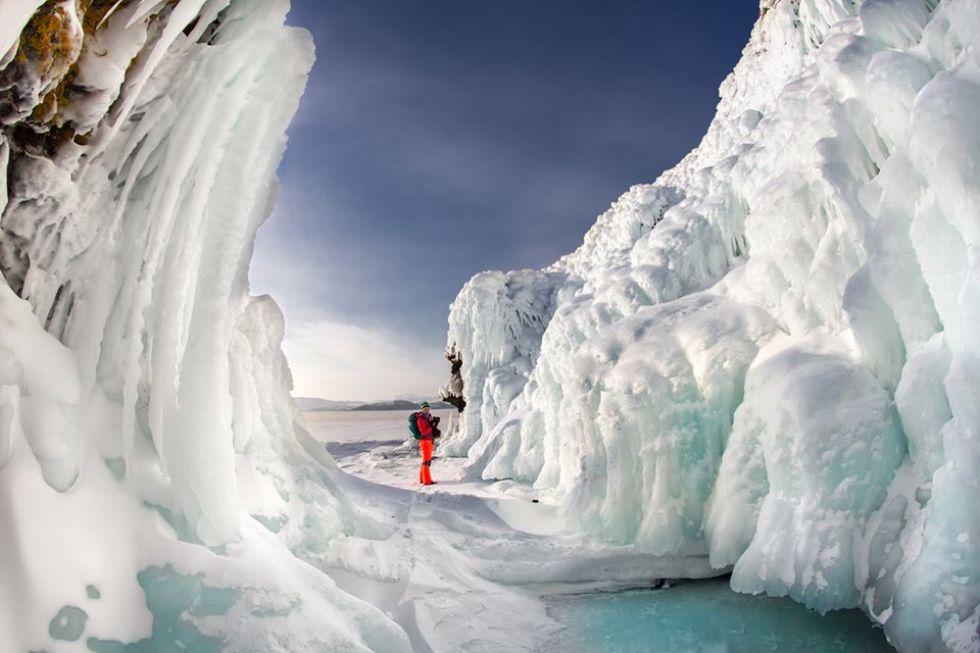 formacje sniezne na rosyjskiej syberii