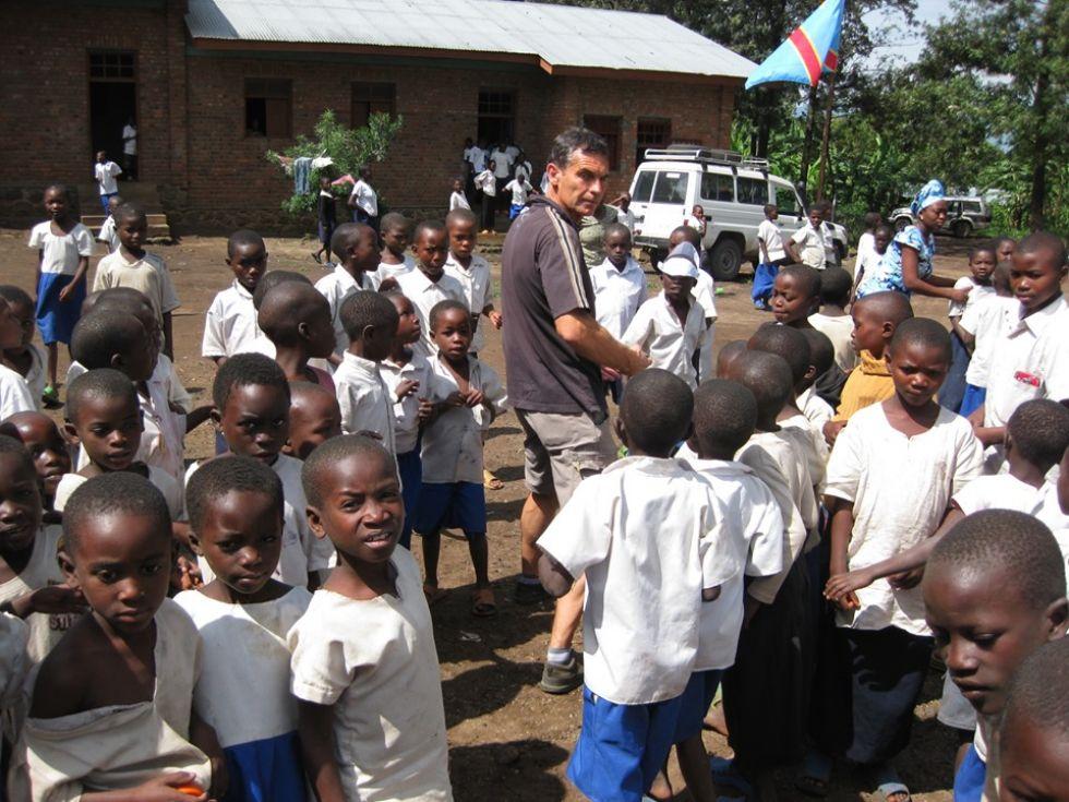 odwiedziny w misyjnej wiosce