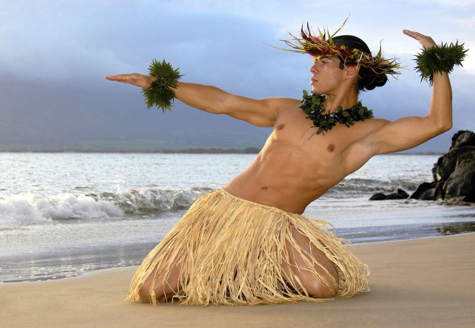 tancerz hula na hawajach