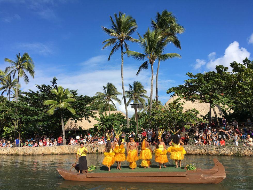 Centrum Kultury polinezyjskiej Hawaje USA