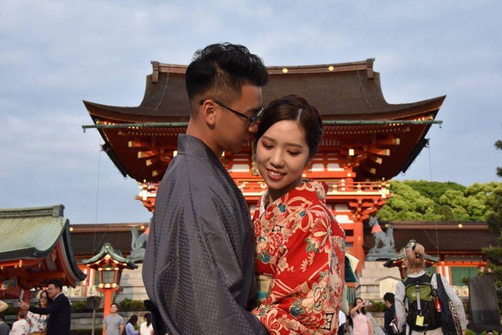 zakochani Japonczycy
