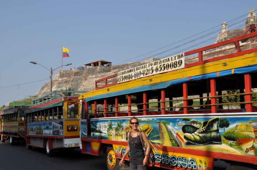 Kolorowy autobus