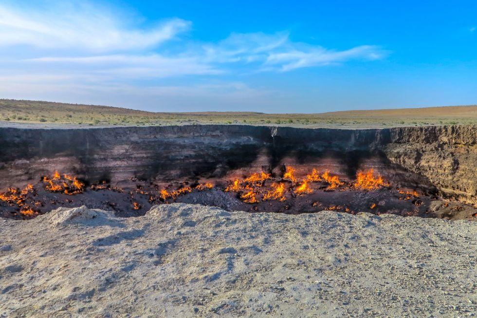 gazowe kratery w derweze