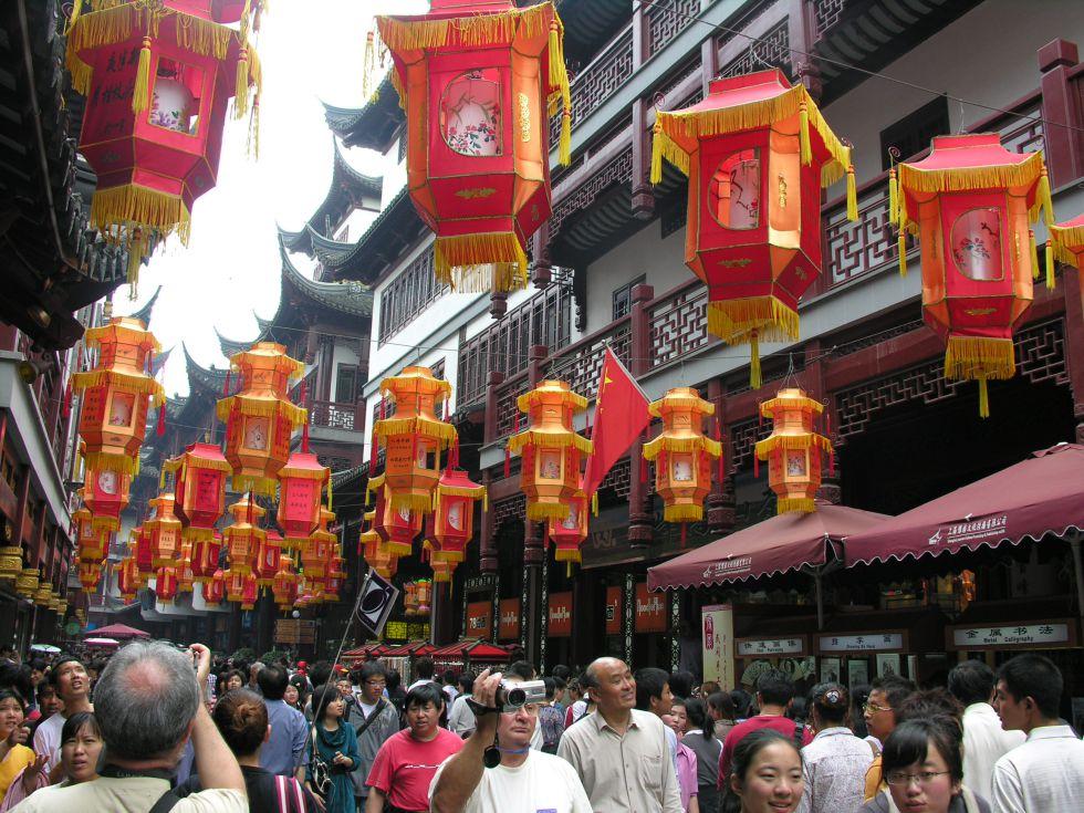 Zwiedzanie Szanghaju.