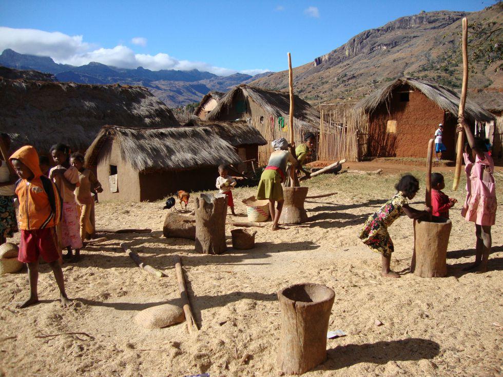 Wioska Madagaskar