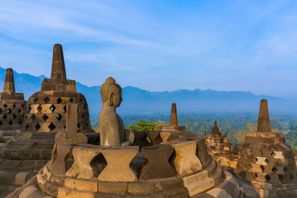 Zespół swiątyń Prombanan w Indonezji.