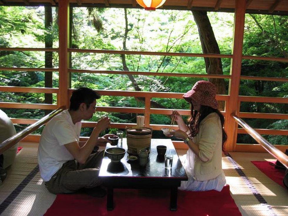 Japonia wycieczka - w herbaciarni
