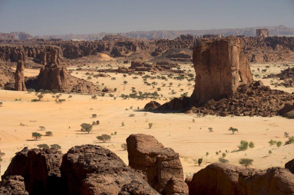 Wycieczka do Afryki, ostańce skalne