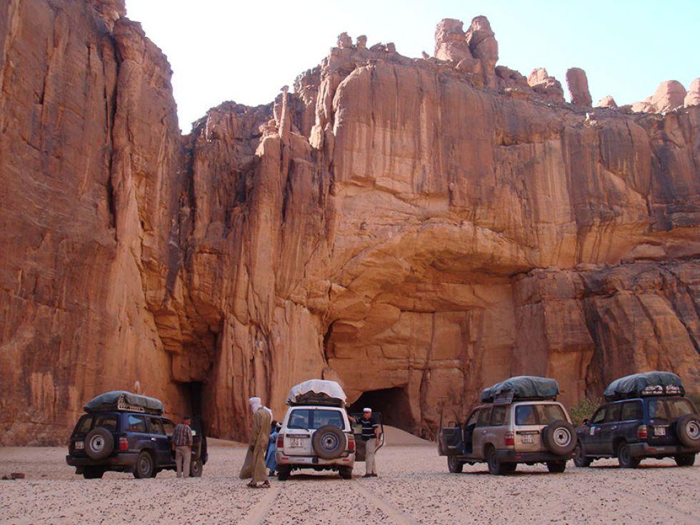 przeprawa jeepami przez pustynię, Czad