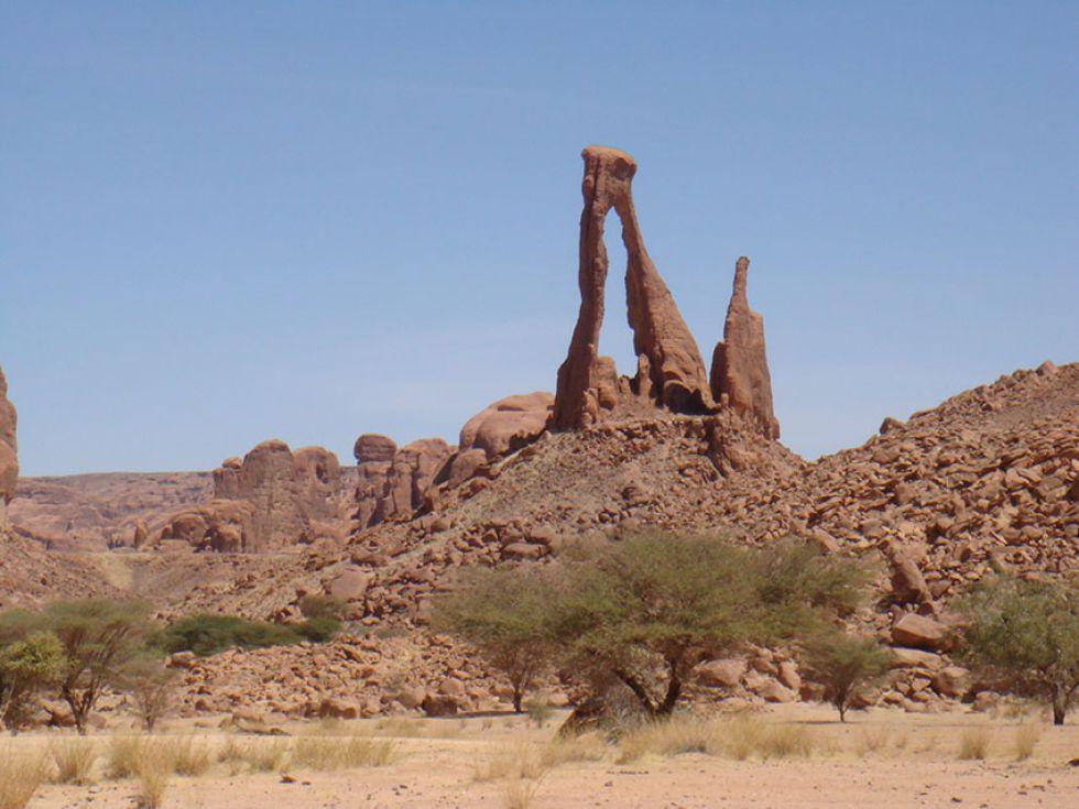 Unikalne formacje skalne, wycieczka do Czadu.