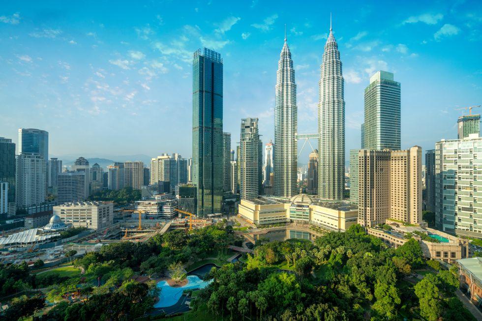 Widok na Kuala Lumpur w Malezji.
