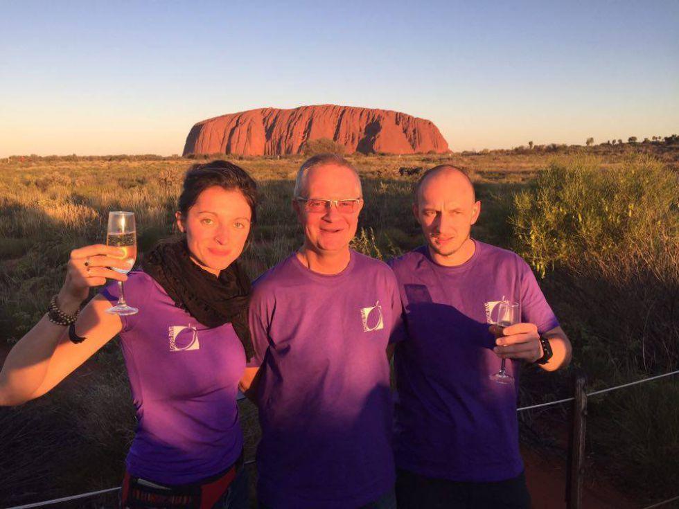 Uluru, Ayers Rock, Zachod Slonca, Australia