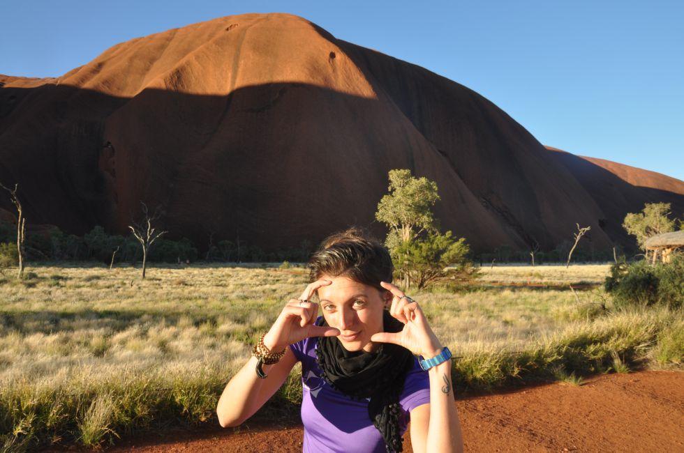 Wycieczka do Australii. Święty kamień aborygenów Uluru