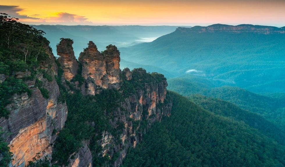 Widok na Blue Mountains w Australii