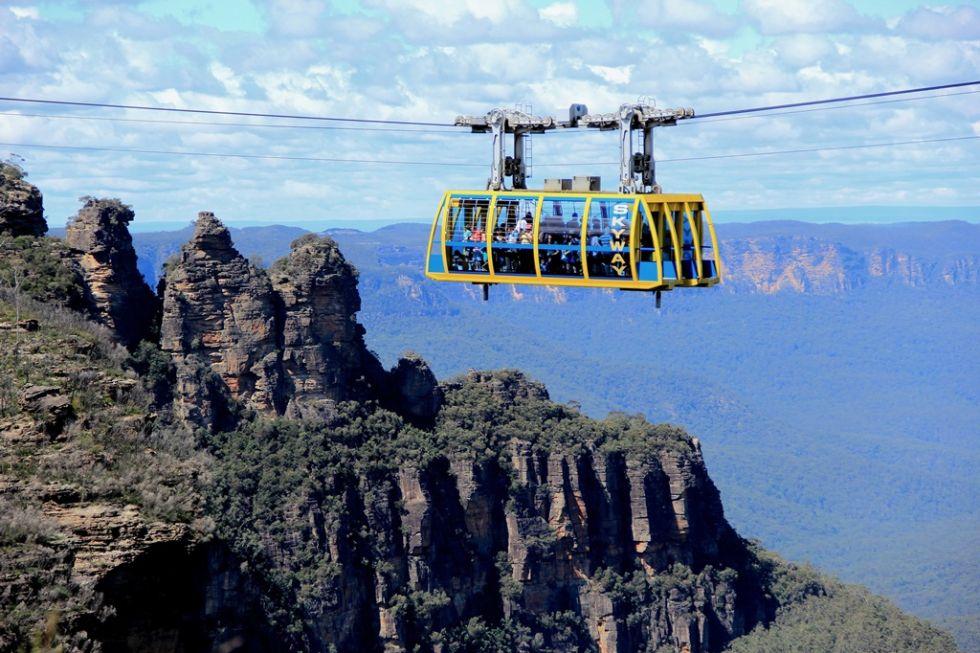 Kolejka nad Blue Mountains w Australii