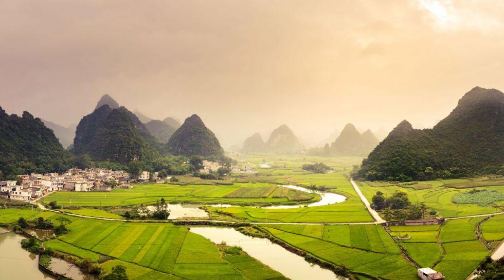 pola ryzowe w chinach