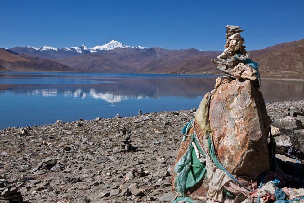 Jezioro Yamdrok. Wycieczka do Tybetu.