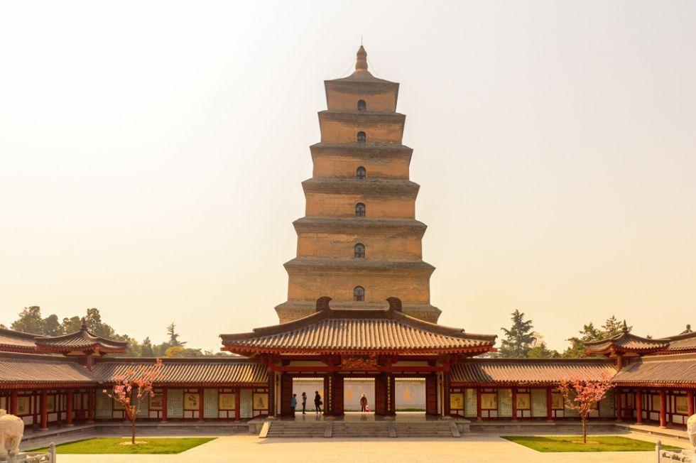 wielka pagoda dzikiej gesi w chinach