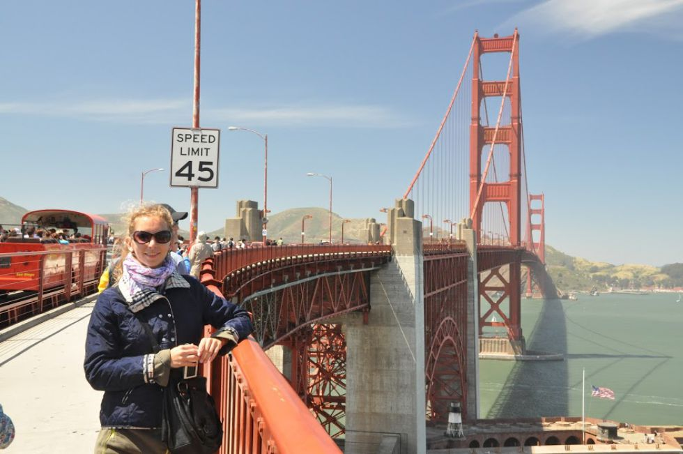 Wycieczka dookołaświata. Most w San Francisco