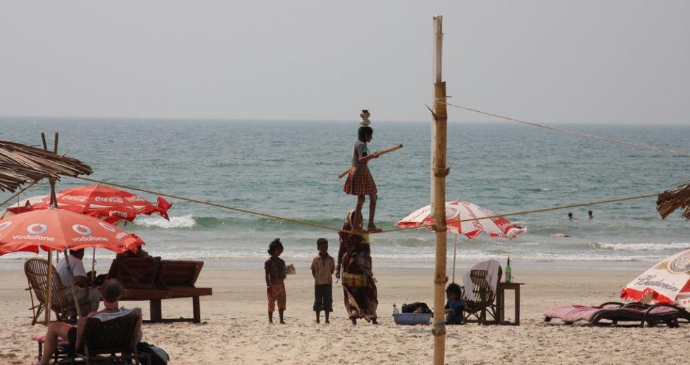 odpoczynek na plazy w indiach