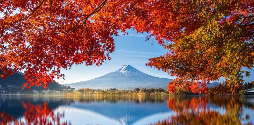 wulkan czynny fuji w japonii