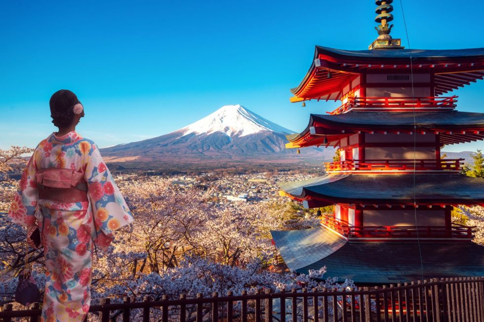fuji wulkan w japonii