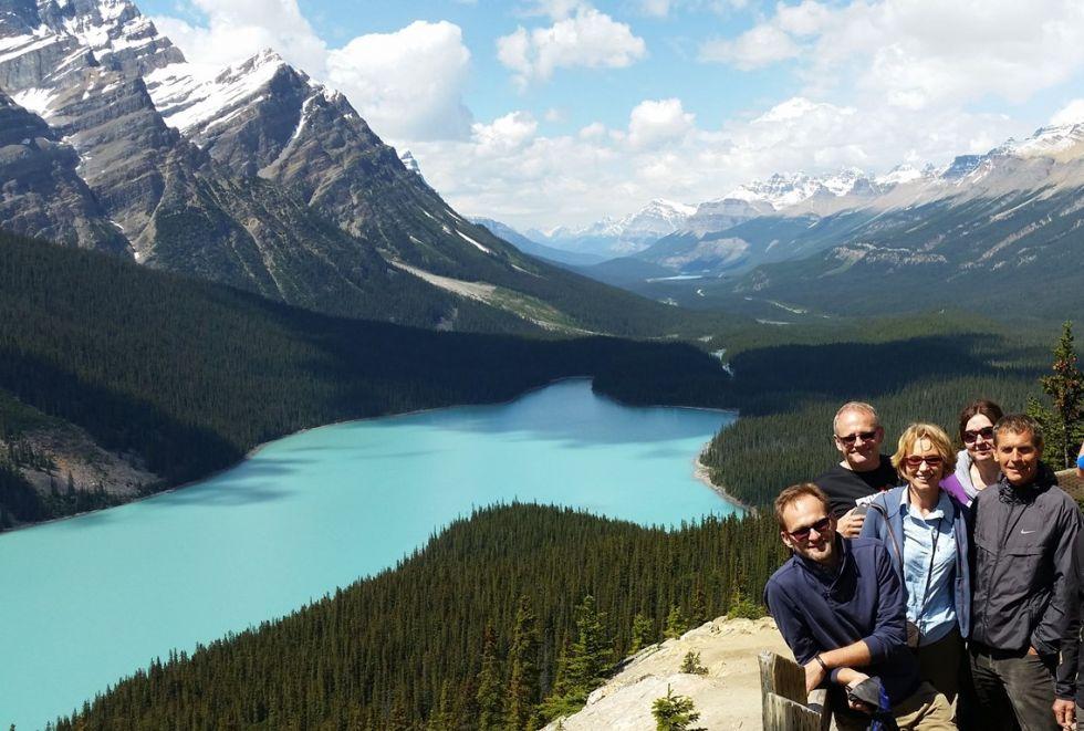 Kanada - Okolice Banff w drodze do Jasper - Jezioro Morenowe