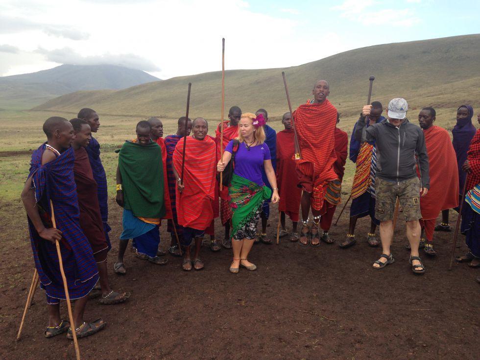 Masai Mara plemię Wycieczka do Afryki