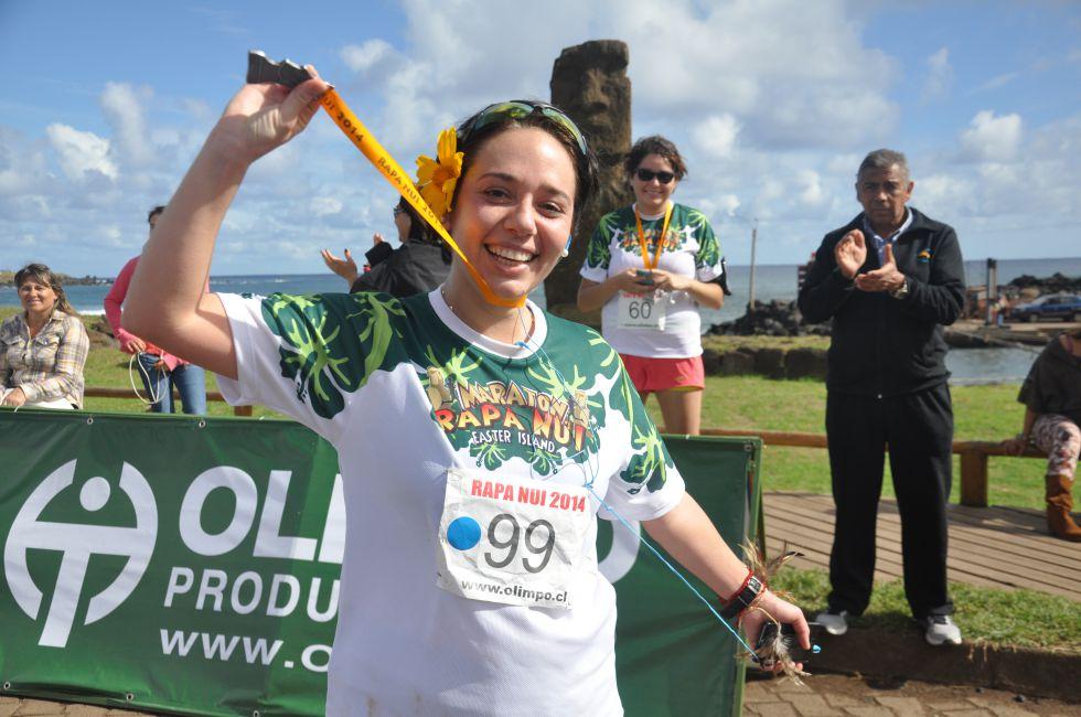 Maraton na Wyspie Wielkanocnej.