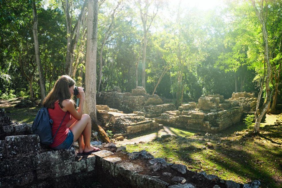 Pozostałości miasta Majów. Wycieczka Meksyk - Honduras- Gwatemala