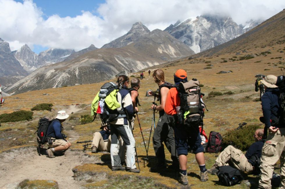 Trekking w Nepalu, w kierunku Annapurny.