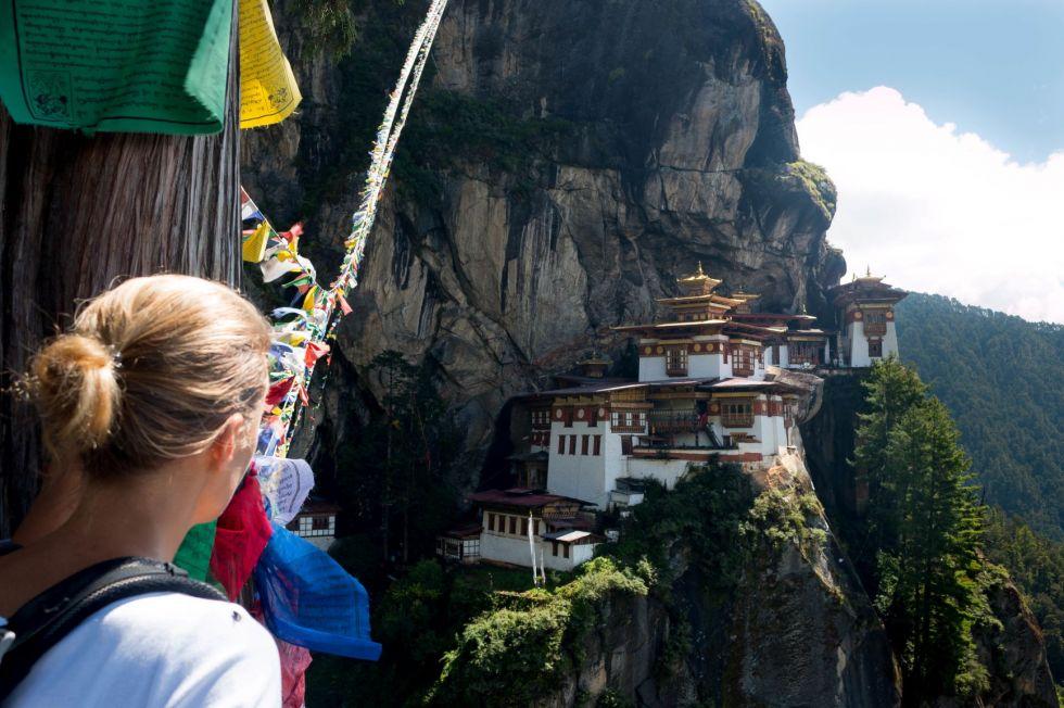 Klasztor Taktsang, Tygrysie Gniazdo, wycieczka trekkingowa w Bhutanie.