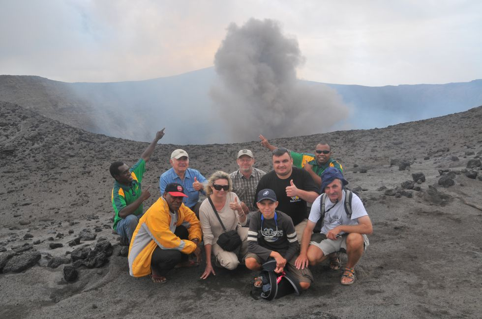 Wulkany Yasur. wyspa Tanna. Wycieczka na Pacyfik Południowy