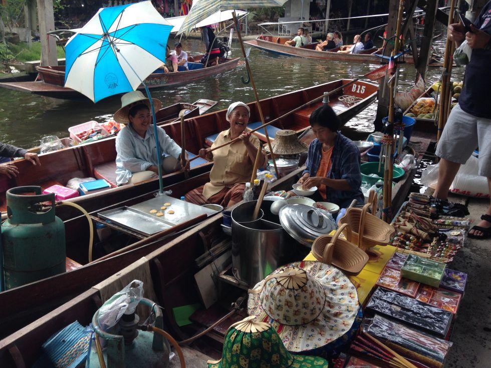 Pływający targ. Wycieczka Tajlandia w pigułce