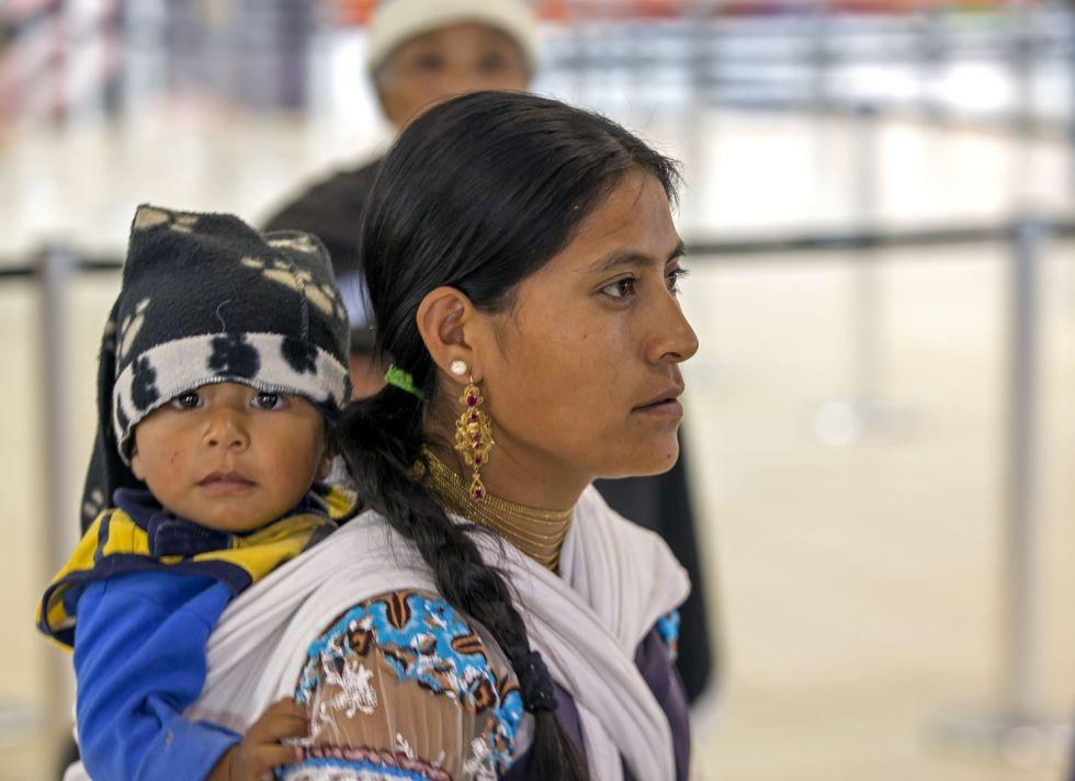 Indianka napotkana w Ekwadorze