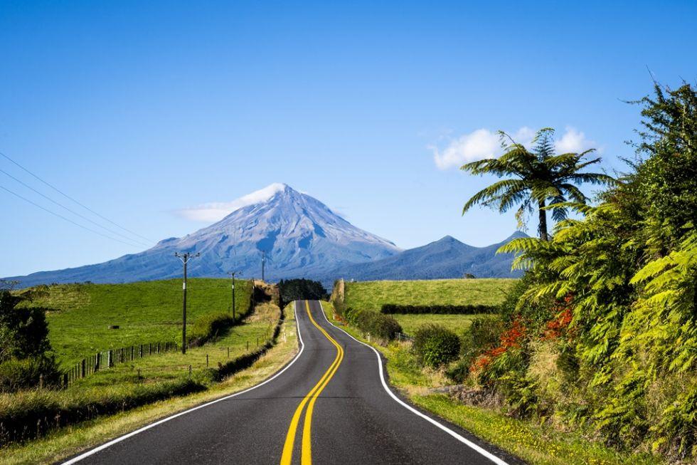 Krajobraz wulkaniczny Nowej Zelandii.
