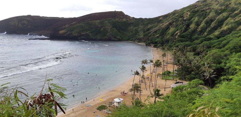 widok na Hawajach podczas jednej z wypraw