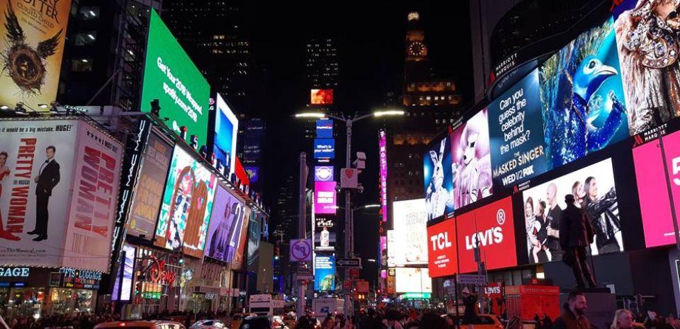slynna ulica Time Square w Nowym Jorku