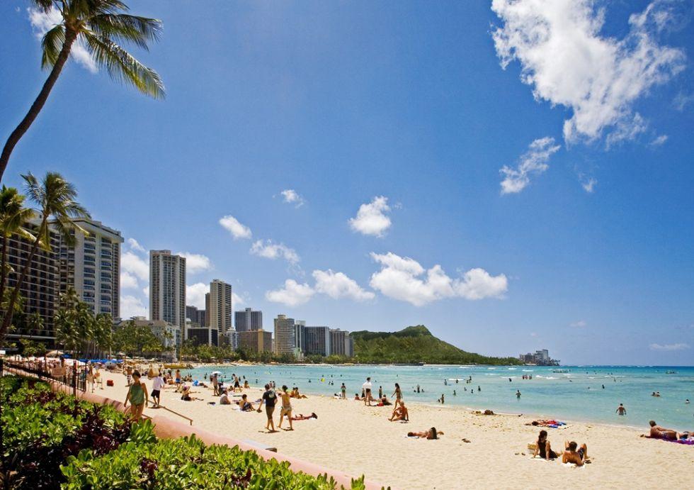 waiki beach na hawajach