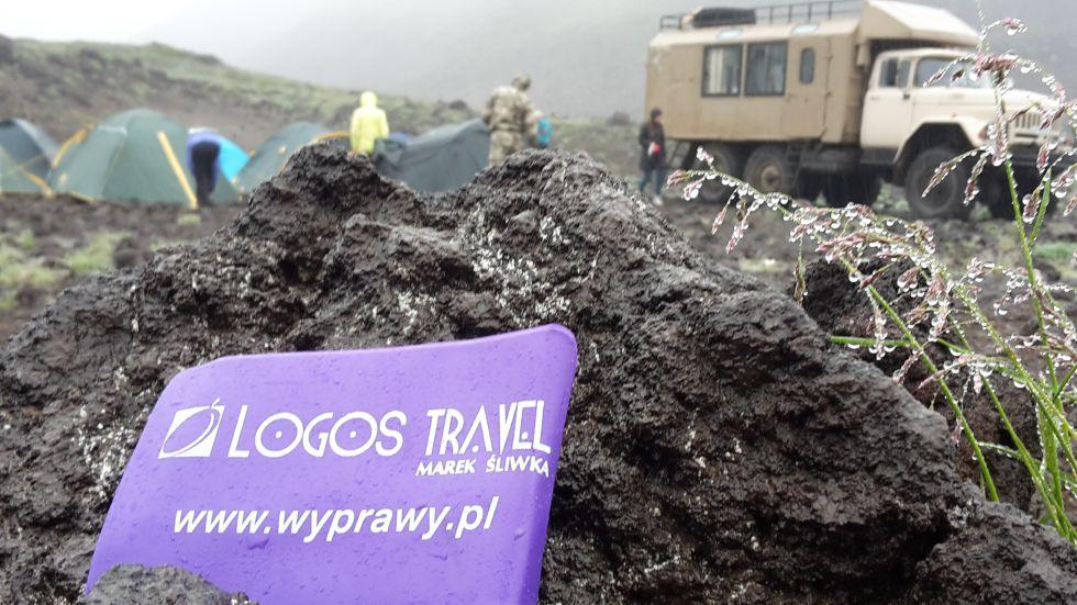 Kamczatka - nocleg w namiotach podczas trekkingu na wulkan