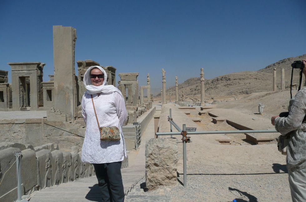 Słynne Persepolis w Iranie.